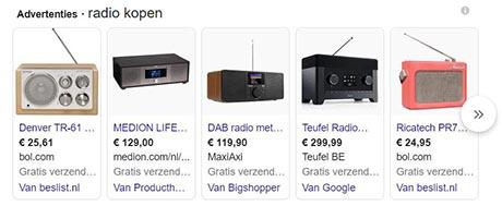 SERP feature - Google shopping advertentie