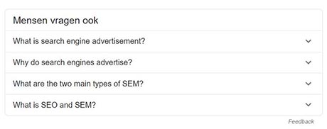 SERP feature - People also ask