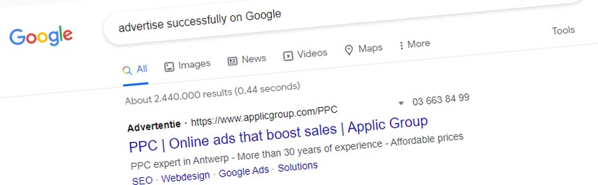 Advertise succesfully in Google